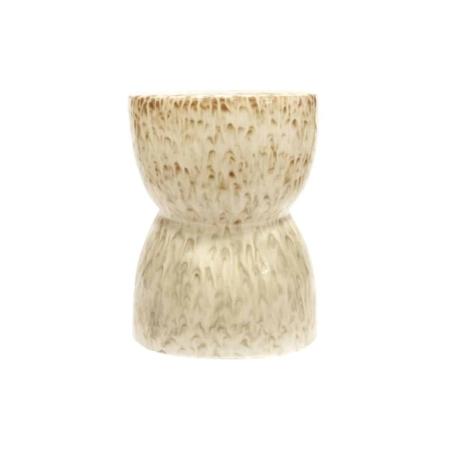 Deze Glazed kruk is een verrassend item in het interieur! De kruk is afkomstig uit de collectie van het Nederlandse merk BePureHome. De kruk is gemaakt van keramiek in een neutrale nougat kleur met een bruine tekening aan de bovenzijde. De kruk heeft een glanzende, geglazuurde afwerking. Doordat elk item handgemaakt is, kan de afwerking afwijken van de foto. Elk item is hierdoor uniek! De Glazed kruk heeft een zitbreedte van 33 cm en een zithoogte van 43 cm.