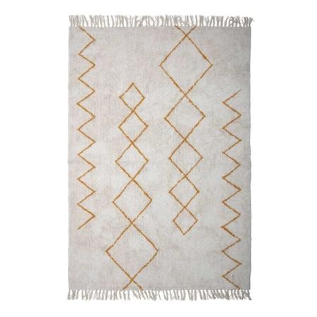 Dit vloerkleed is een plaatje om te zien! Dit vloerkleed van Bloomingville is gemaakt van katoen en heeft franjes aan beide kanten. Een echte sfeermaker in uw interieur!