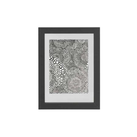 WOOOD Exclusive Blake fotolijst met houten rand zwart 40x30cm