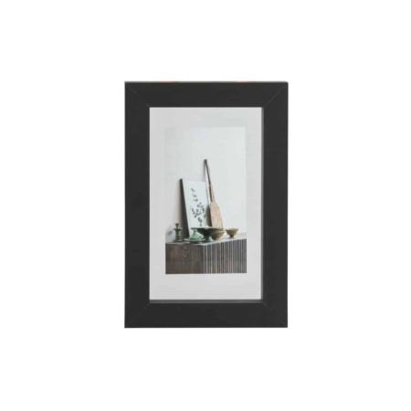 WOOOD Exclusive Blake fotolijst met houten rand zwart 30x20cm