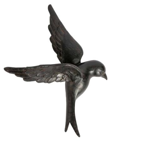 Deze XL Avaler vogel uit de collectie van het Nederlandse merk BePureHome geeft een speelse levendigheid aan de wand.
