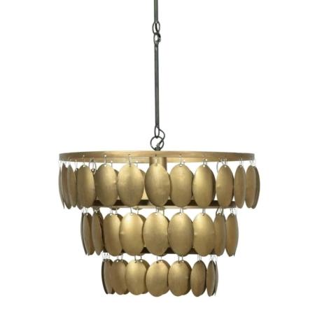 Deze Moondust hanglamp komt uit de collectie van het Nederlandse merk BePureHome en is vervaardigd uit metaal met een antique brass finish.