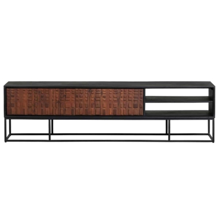 Nuts is een strak tv-meubel met een authentieke uitstraling en komt uit de collectie van het Nederlandse merk BePureHome.