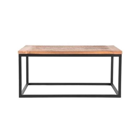 De Box salontafel industrieel 100x65 cm van LABEL51 is precies wat je nodig hebt.