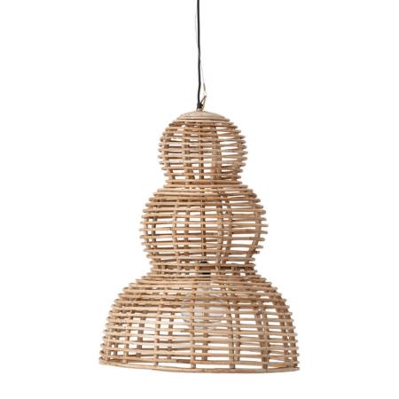 De Cane lamp van bloomingville is gemaakt van riet in een natuurlijke tint.