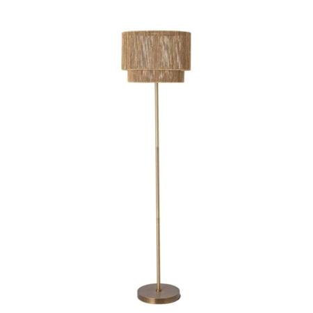 Deze prachtige Brass vloerlamp is van Bloomingville.