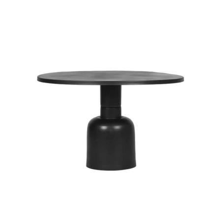 Salontafel Wink van LABEL51 is een ronde tafel gemaakt van metaal.