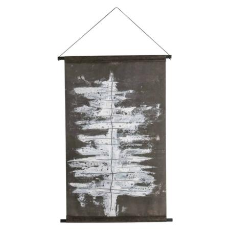 Deze Winter tree poster is stoer en heeft een soort abstracte vorm, waardoor hij het hele jaar kan blijven hangen.