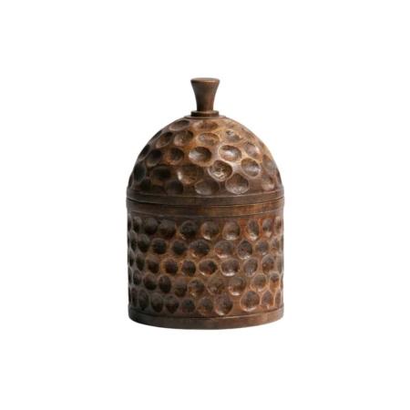 Deze retro, sfeervolle Harlan opbergpot met deksel komt uit de collectie van het Nederlandse merk WOOOD Exclusive.