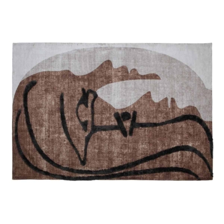 Dit Roden wand/vloerkleed uit de collectie van het Nederlandse merk WOOOD Exclusive is net als kunst op de vloer óf aan de wand. Een echte sfeermaker in iedere ruimte. Roden is gemaakt van een rijke, zachte multicolor stof (65% wol, 35% polyester). Door de abstracte zwarte tekening in het kleed kun je er uren naar kijken.