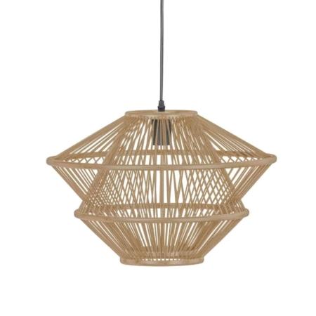 Deze gevlochten hanglamp Bamboo komt uit de collectie van het Nederlandse merk BePureHome en is vervaardigd uit natuurlijke bamboe linten. Door de open structuur van de kap verspreid de lamp een sfeervol licht en past hij in een natuurlijke en moderne interieurstijl.