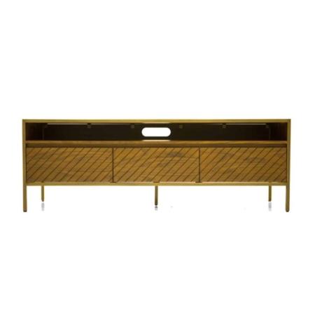 SMAQQ Tv-meubel mace acaciahout metaal goud