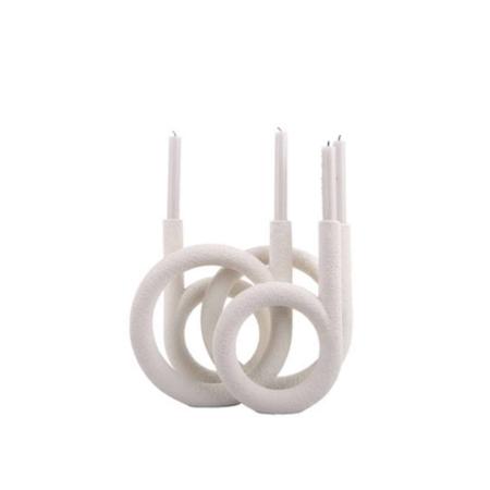 PT Kaarsenhouder Ring ivoor wit