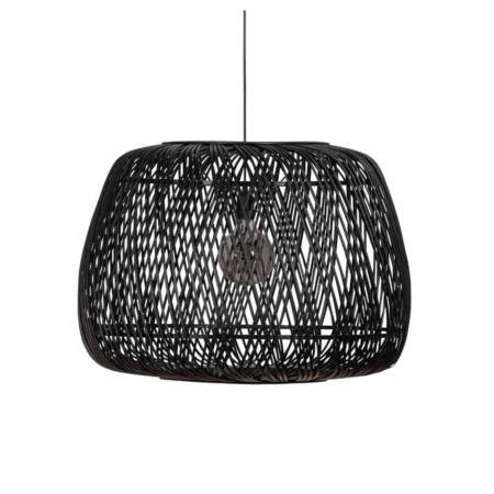 WOOOD Exclusive Moza hanglamp bamboe zwart ø70cm