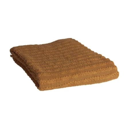 BePureHome Waving gebreid plaid fudge 130x170cm