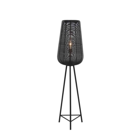 ZES10 Collectie Adeta vloerlamp metaal mat zwart ø37x147cm