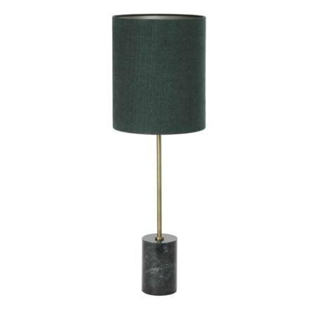 ZES10 Collectie Marble tafellamp marmer emerald groen/brons