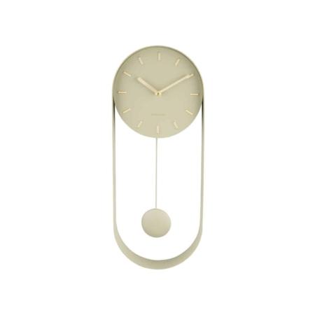 KARLSSON Pendulum Charm wandklok olijf groen