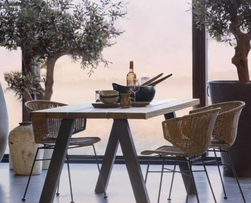 WOOOD Tablo outdoor eettafel naturel 210cm | Halzes10.nl