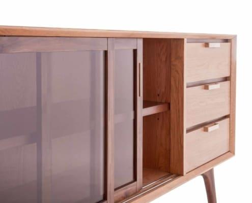 SMAQQ Chervil dressoir acaciahout glas naturel | Halzes10.nl