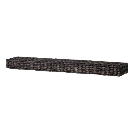 Bloomingville Celina wandplank riet zwart 75x12,5cm