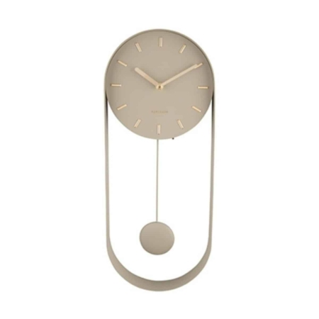 KARLSSON wandklok Pendulum Charm olijf groen