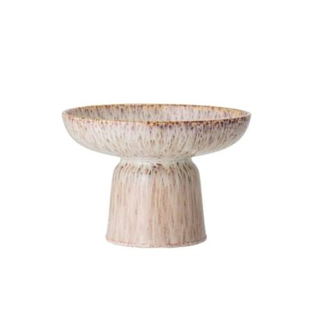 Bloomingville Achille schaal op voet steen licht bruin/zand