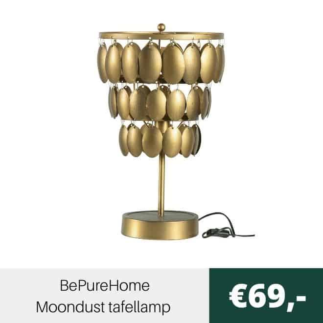 BePureHome Moondust tafellamp antiek brass