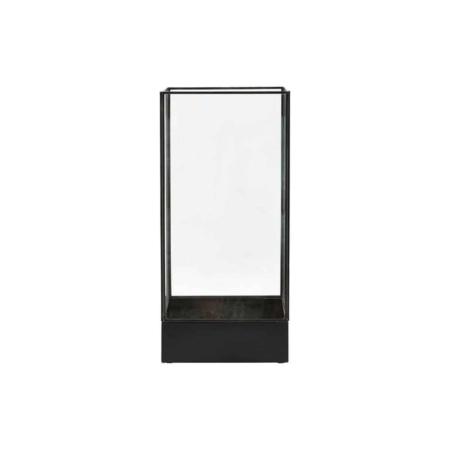 Housedoctor Display box glas metaal zwart L