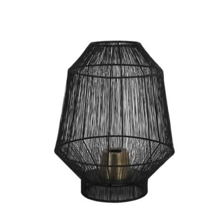 ZES10 Collectie Vitora tafellamp mat zwart Ø30x38cm