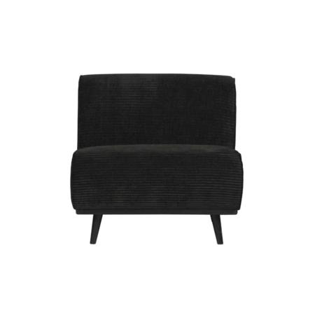 BePureHome Statement fauteuil platte brede rib graphite