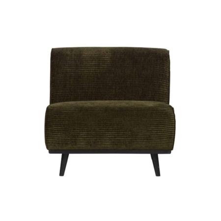 BePureHome Statement fauteuil platte brede rib warm groen
