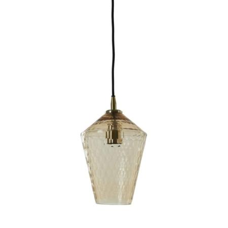 ZES10 Collectie Delila hanglamp glas antique brons Ø18cm