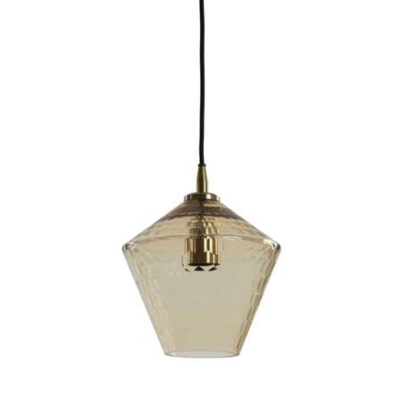 ZES10 Collectie Delila hanglamp glas antique brons Ø20cm