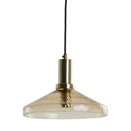 ZES10 Collectie Delilo hanglamp glas antique brons Ø30cm