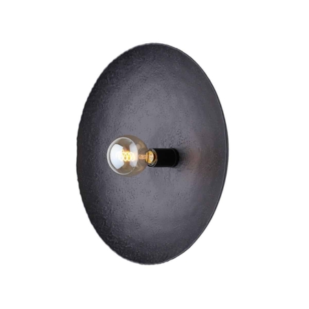 ZES10 Collectie Neva wandlamp mat zwart Ø50x12cm