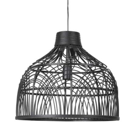ZES10 Collectie hanglamp Pocita rotan zwart Ø48x43 cm