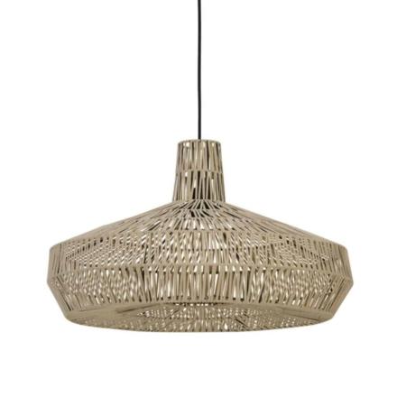 ZES10 collectie hanglamp Masey leer naturel ø59x35cm