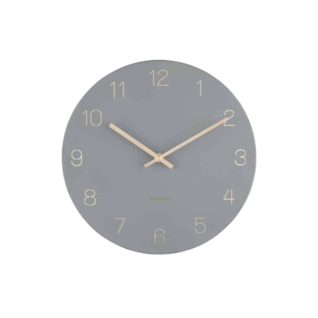 KARLSSON Wandklok Charm Engraved grijs ø30cm