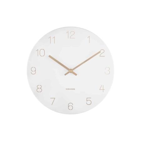 KARLSSON Wandklok Charm Engraved wit ø30cm