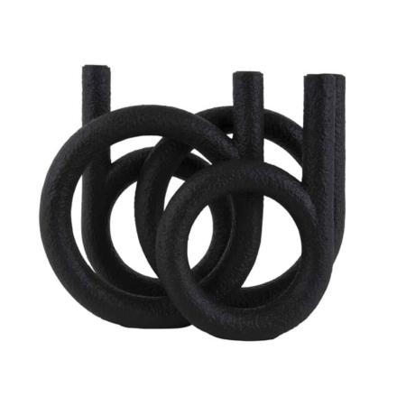 PT Rings kaarsenhouder zwart