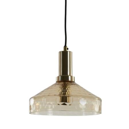 ZES10 Collectie Delilo hanglamp glas antique brons Ø25cm