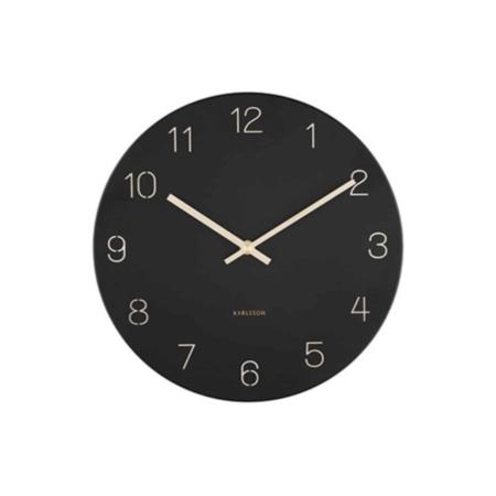 KARLSSON wandklok Charm Engraved zwart ø30cm