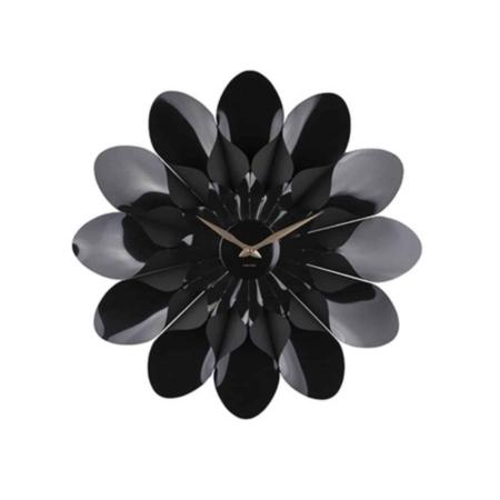 KARLSSON Bloem wandklok kunststof zwart ø60cm