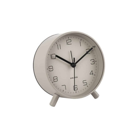 Karlsson Lofty alarmklok warm grijs ø11cm
