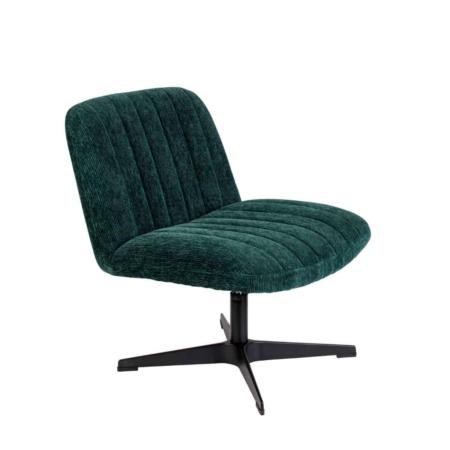 Zuiver Belmond fauteuil fluweel rib groen