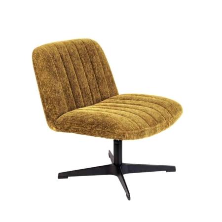 Zuiver Belmond fauteuil rib fluweel oker
