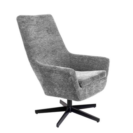Zuiver Bruno fauteuil rib fluweel licht grijs
