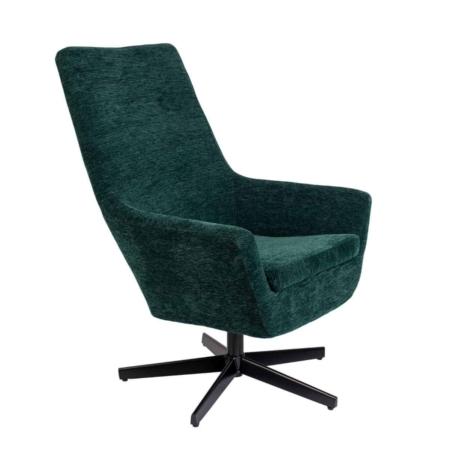 Zuiver Bruno fauteuil rib fluweel groen