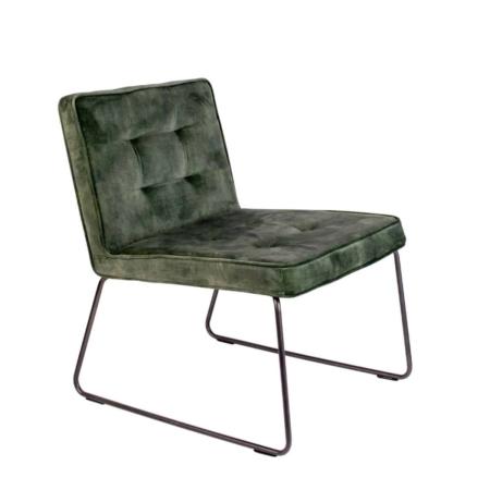 Zuiver Clark fauteuil fluweel grijs groen